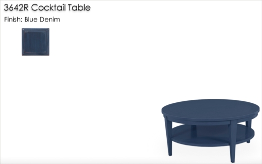 Lorts 3642R Cocktail Table finished in Blue Denim