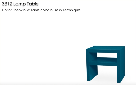 Lorts 3312 Lamp Table finished in a Sherwin-Williams color
