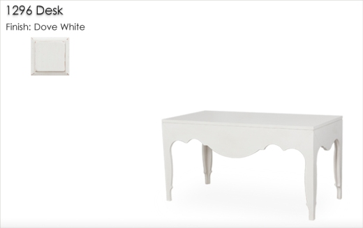 Lorts 1296 Desk dinished in Dove White