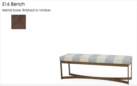 Lorts 516 Bench finished in Umber