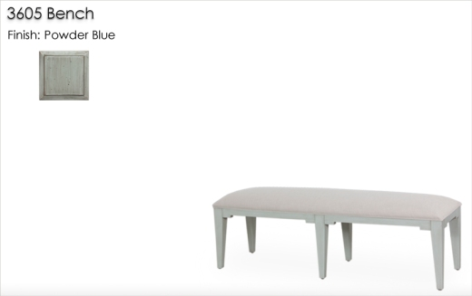 Lorts 3605 Bench finished in Powder Blue