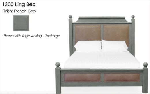 Lorts 1200 King Bed finished in French Grey