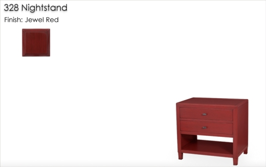 Lorts 328 Nightstand finished in Jewel Red