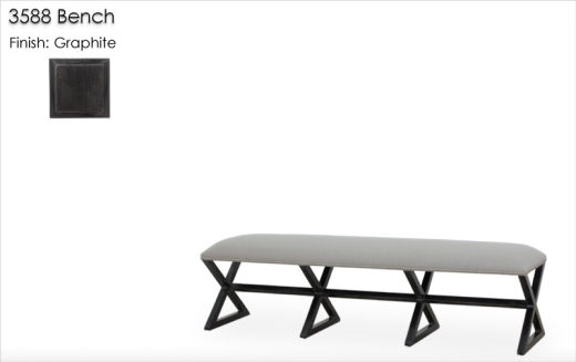 Lorts 3588 Bench finished in Graphite