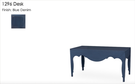 LOrts 1296 Desk finished in Blue Denim