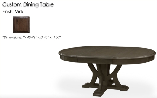 Lorts Custom Dining Table finished in Mink