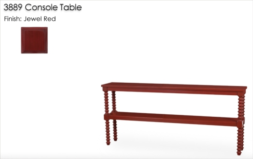 Lorts 3889 Console Table finished in Jewel Red