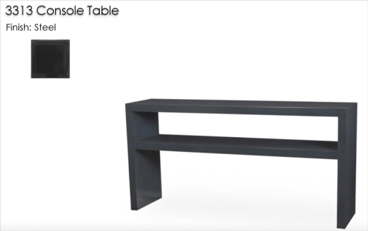 Lorts 3313 Console Table finished in Steel