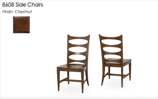 Lorts 8608 Side Chairs finished in Buckskin