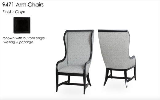 Lorts 9471 Arm Chairs finished in Onyx