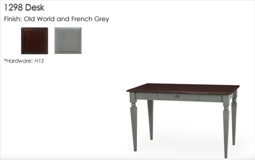 Lorts 1298 Desk finished in old World and French Grey