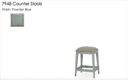 Lorts 7948 Counter Stools finished in Powder Blue