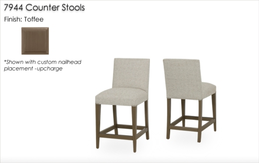Lorts 7944 Counter Stools finished in Toffee