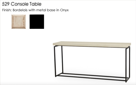Lorts 529 Console Table finished in Bordelais and Onyx