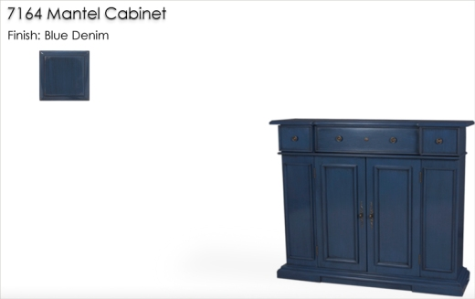 Lorts 7164 Mantel Cabinet finished in Blue Denim