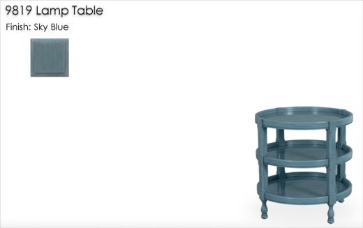Lorts 9819 Lamp Table finished in Sky Blue