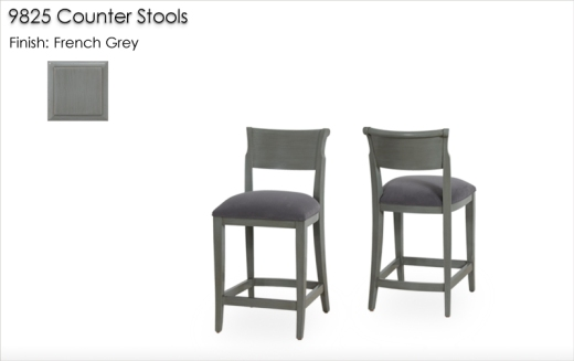 Lorts 9825 Counter Stools finished in French Grey