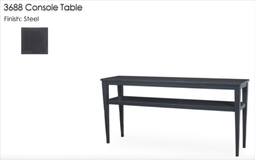 Lorts 3688 Console Table finished in Steel