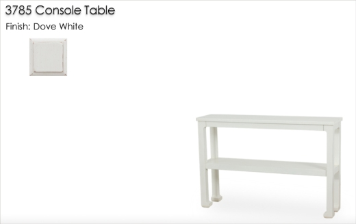Lorts 3785 Console Table finished in Dove White