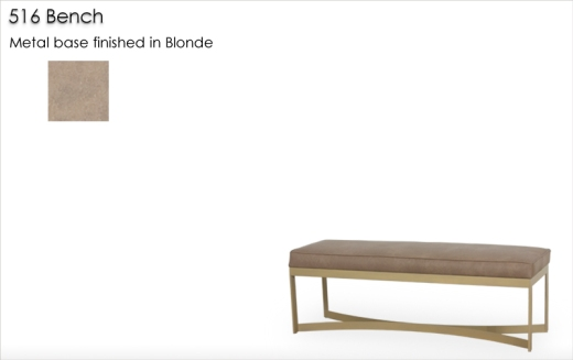 Lorts 516 Bench metal base finished in Blonde