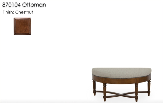 Lorts 870104 Ottoman finished in Chestnut