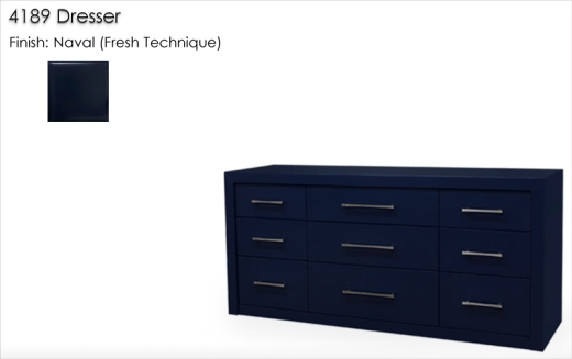 Lorts 4189 Dresser finished in Naval. Fresh Technique