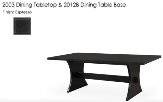 Lorts 2003 / 2012B Dining Table finished in Espresso