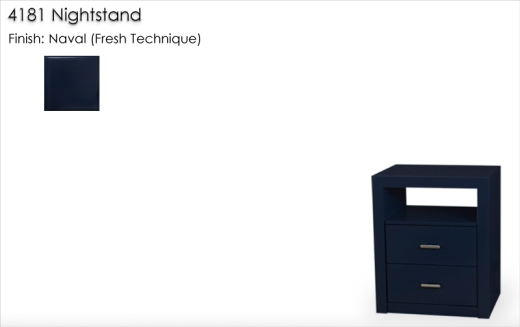 Lorts 4181 Nightstand finished in Naval