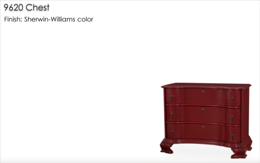 Lorts 9620 Chest finished in a Sherwin Williams color