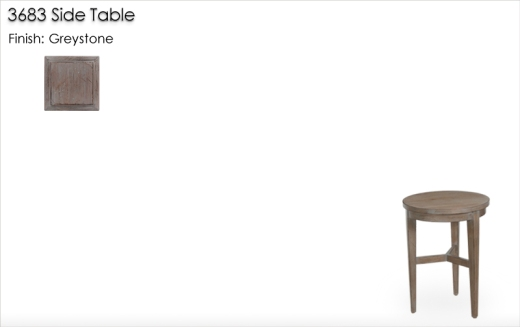 Lorts 3683 Side Table finished in Greystone