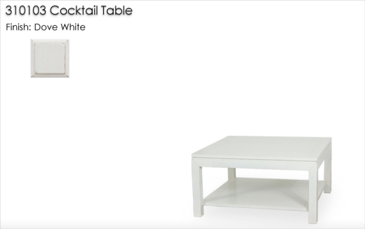 Lorts 310102 Cocktail Table finished in Dove White