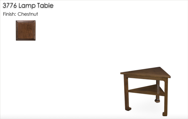 Lorts 3776 Lamp Table finished in Chestnut