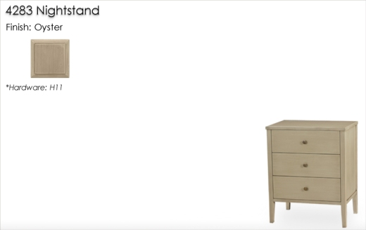 Lorts 4283 Nightstand finished in Oyster