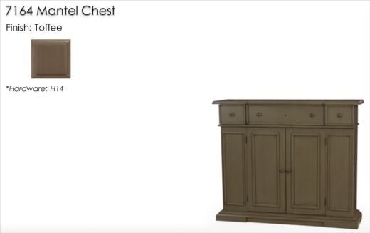 Lorts 7164 Mantel Chest finished in Toffee