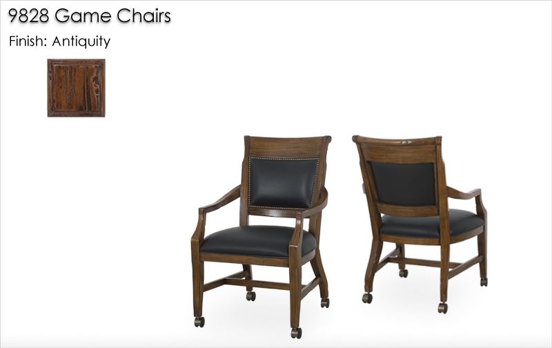 Lorts 9828 Game Chairs finished in Antiquity