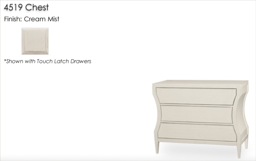Lorts 4519 Chest finished in Cream Mist