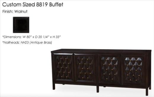 Lorts Custom Sized 8819 Buffet finished in Walnut