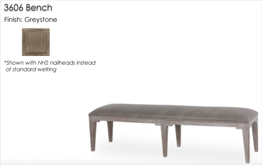 Lorts 3606 Bench finished in Greystone