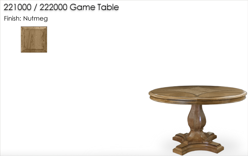 Lorts 221000 / 222000 Game Table finished in Nutmeg