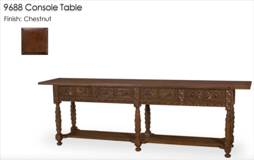 Lorts 9688 Console Table finished in Chestnut