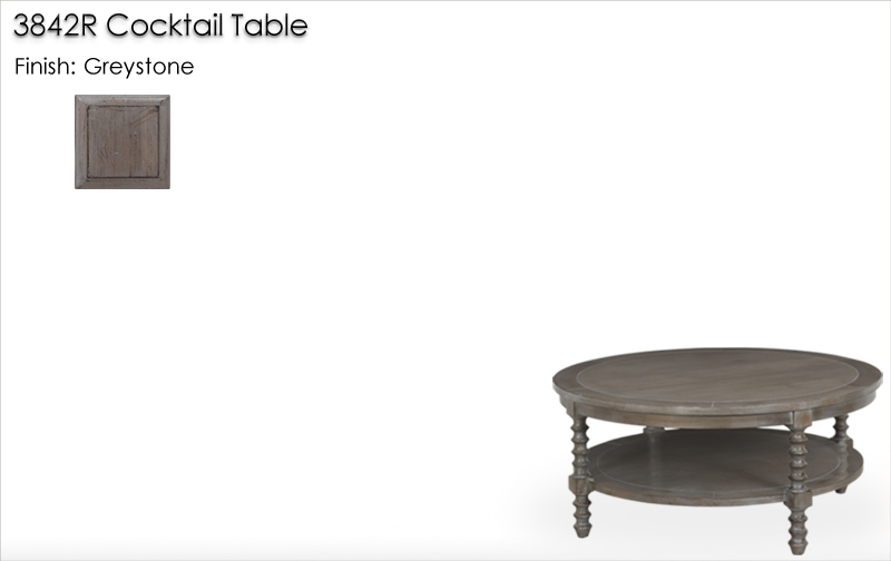 Lorts 3842R Cocktail Table finished in Greystone