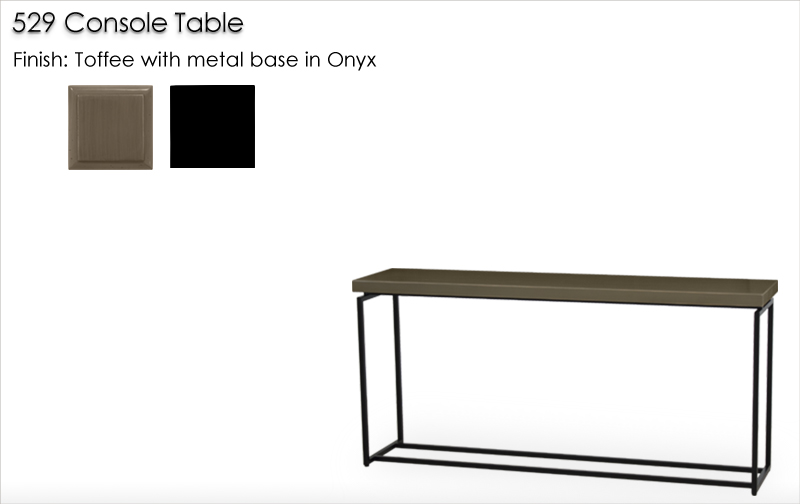 Lorts 529 Console Table finished in Toffee and Onyx