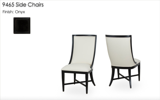 Lorts 9465 Side Chairs finished in Onyx