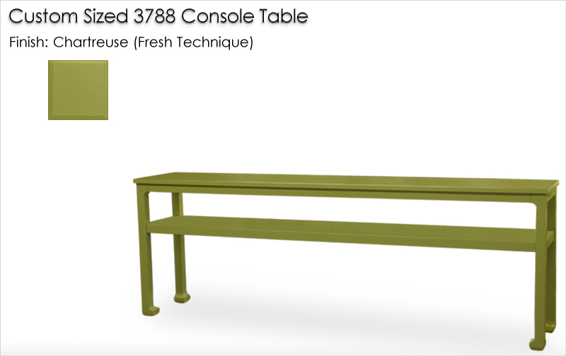 Lorts Custom Sized 3788 Console Table finished in Chartreuse