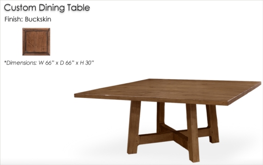 Lorts Custom Dining Table finished in Buckskin