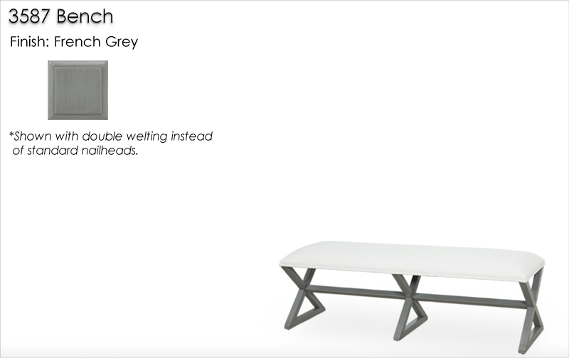 Lorts 3587 Bench finished in French Grey