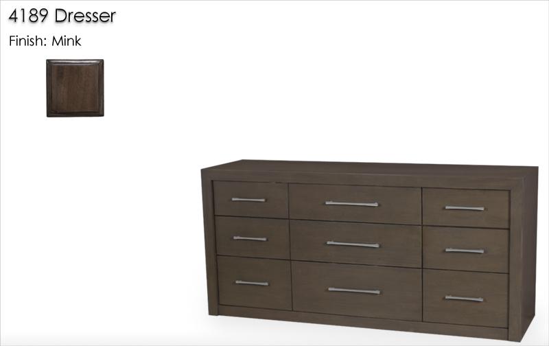 Lorts 4189 Dresser finished in Mink