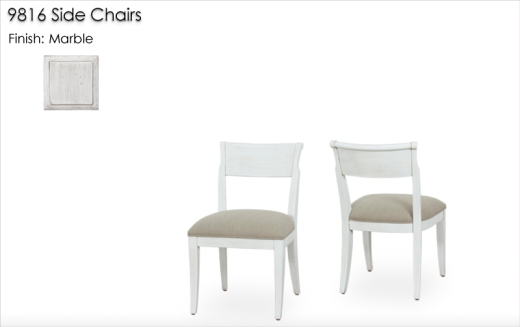 Lorts 9816 Side Chairs finished in Marble