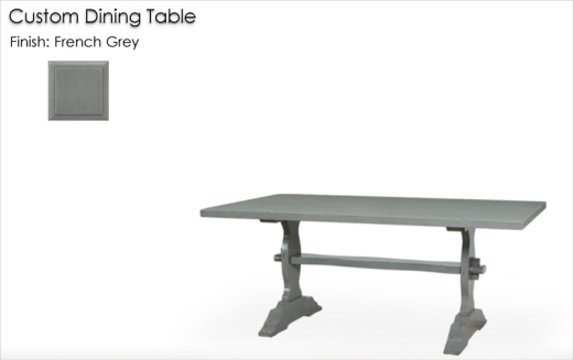 Lorts Custom Dining Table finished in French Grey