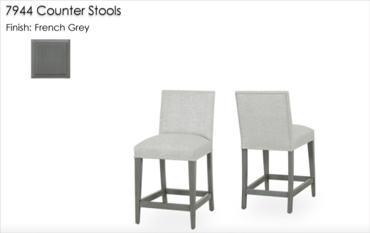 Lorts 7944 Counter Stools finished in French Grey